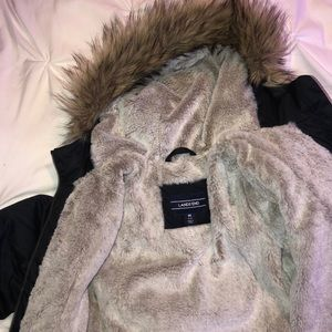 Youth Lands End down winter coat